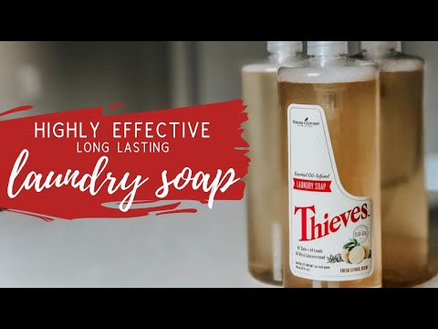 LONG LASTING, HIGHLY EFFECTIVE LAUNDRY SOAP DIY | Thieves Hack + Non-Toxic Ingredients | Fisch Fam