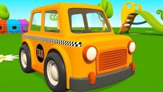 Leo der Lastwagen hat Besuch von einem Taxi| Animation für Kinder