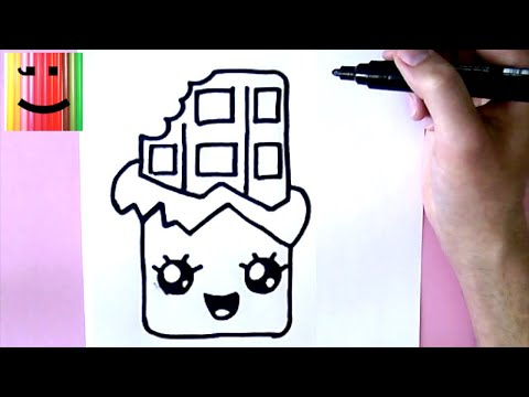Coloriage Chocolat Kawaii.Comment Dessiner Du Chocolat Kawaii Tuto Dessin Youtube