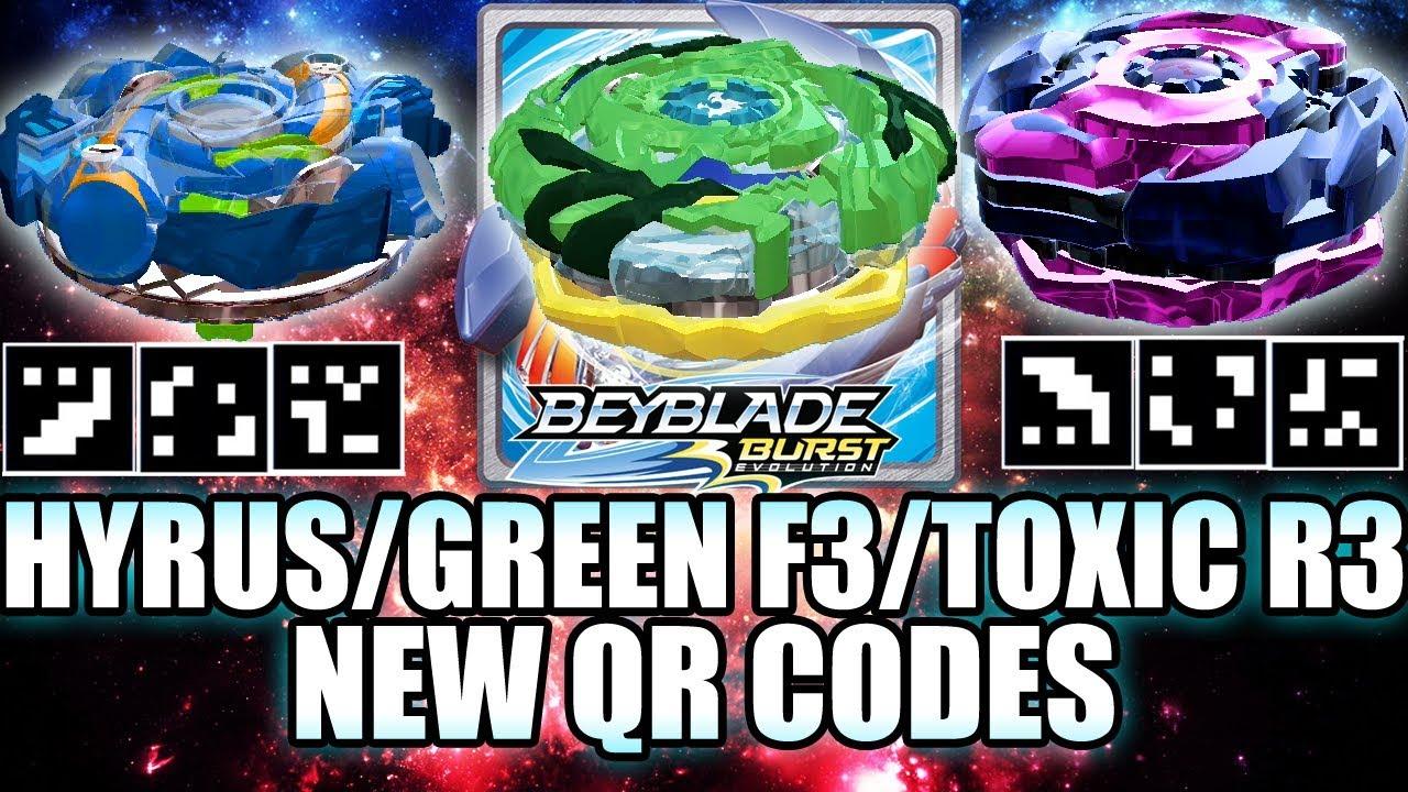 Qr Codes Hyrus Green Fafnir Toxic Roktavor R3 Beyblade