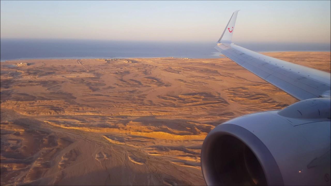 Tuifly 737 800 Stunning Sunset Landing At Marsa Alam Airport Youtube