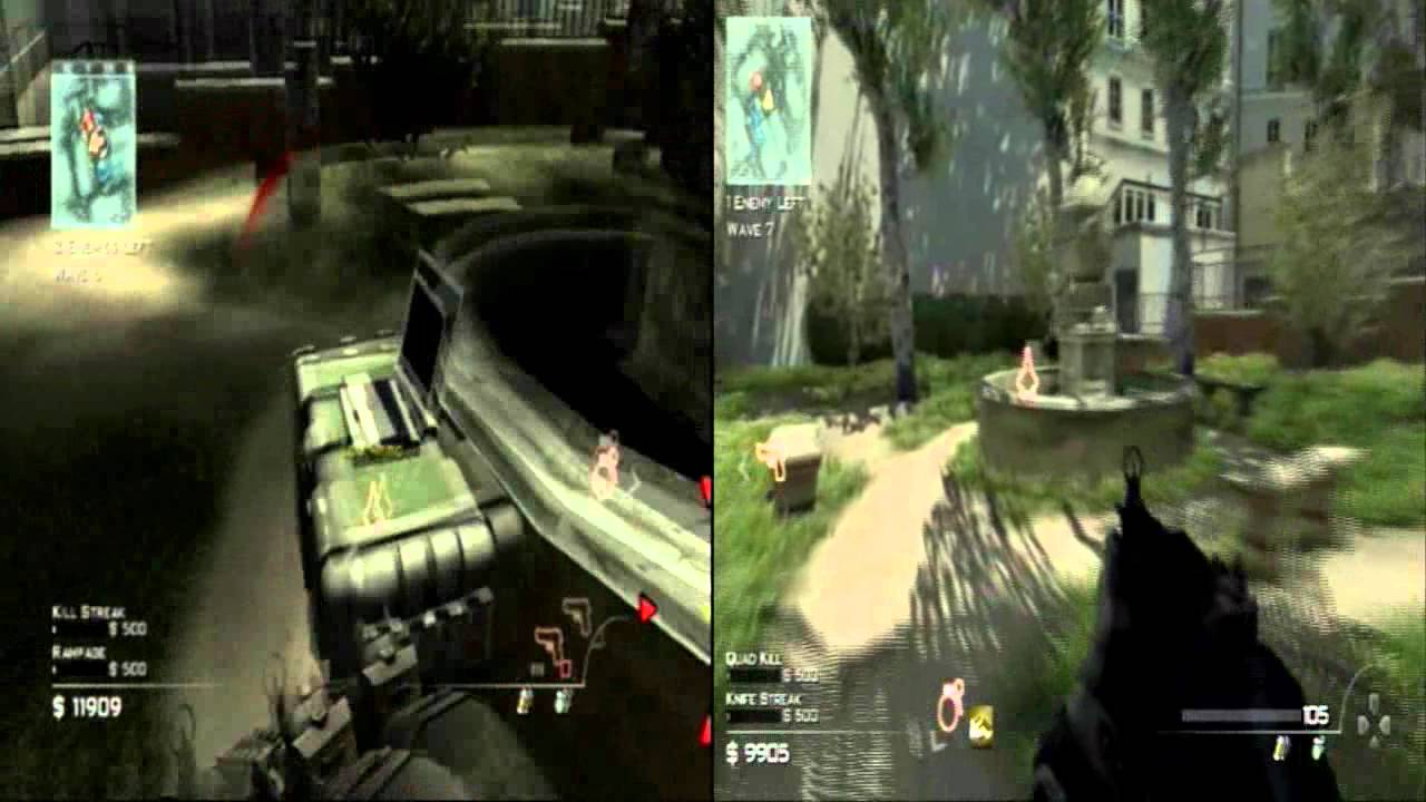 Call Of Duty Modern Warfare 3 Wii Vs Ps3 Spec Ops Comparison Side By Side Youtube