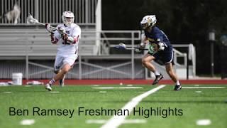Ben Ramsey (Notre Dame '25) Freshman Varsity Lacrosse Highlights
