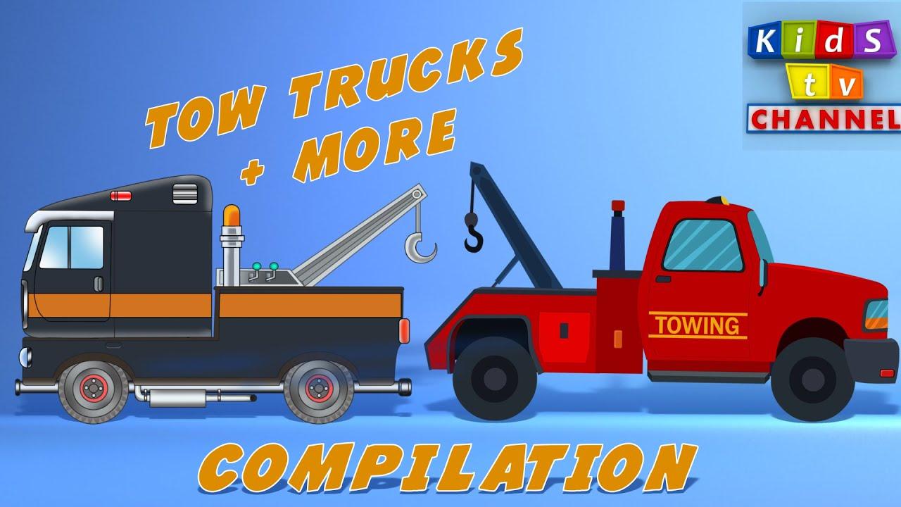tow truck cartoon for kids children u0027s songs by kids tv channel