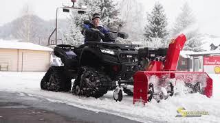 TGB Blade 1000 mit Schneefräse und Raupe