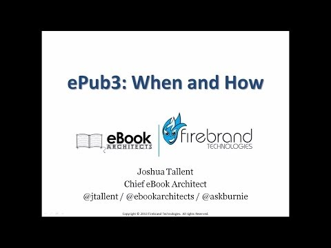 EPUB3: When And How