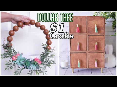 DOLLAR TREE DIY High End Looking Home Decor Crafts