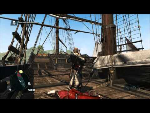 AC4 Black Flag - How to take over HUGE ships without naval combat