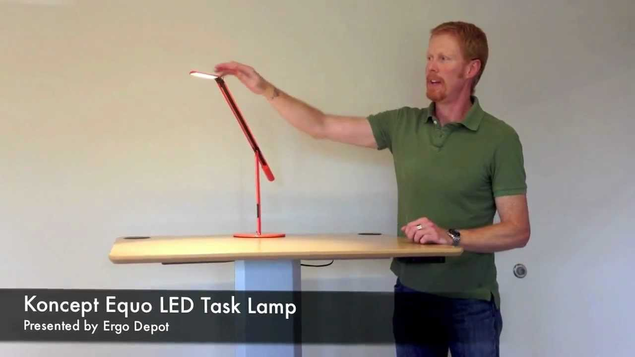 Equo Led Task Lamp By Koncept Youtube