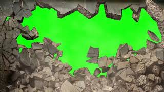 Wall collapse A green screen Intro Template