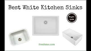 ✅White Kitchen Sinks: Reviews of the 12 Best White Kitchen Sinks, Plus the Worst 1 to Avoid ❎