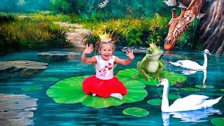 Roma y Diana juegan en el 3D Museo Art in Paradise