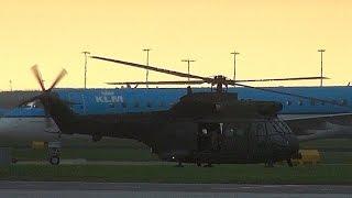 2x RAF Royal Air Force Westland Puma  at Amsterdam Airport Schiphol (DutchPlaneSpotter)