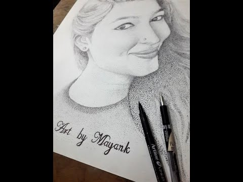 STIPPLING ART PORTRAIT  || Time Lapse  BY Sketcher's Diary