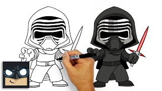 How to Draw Kylo Ren | Star Wars