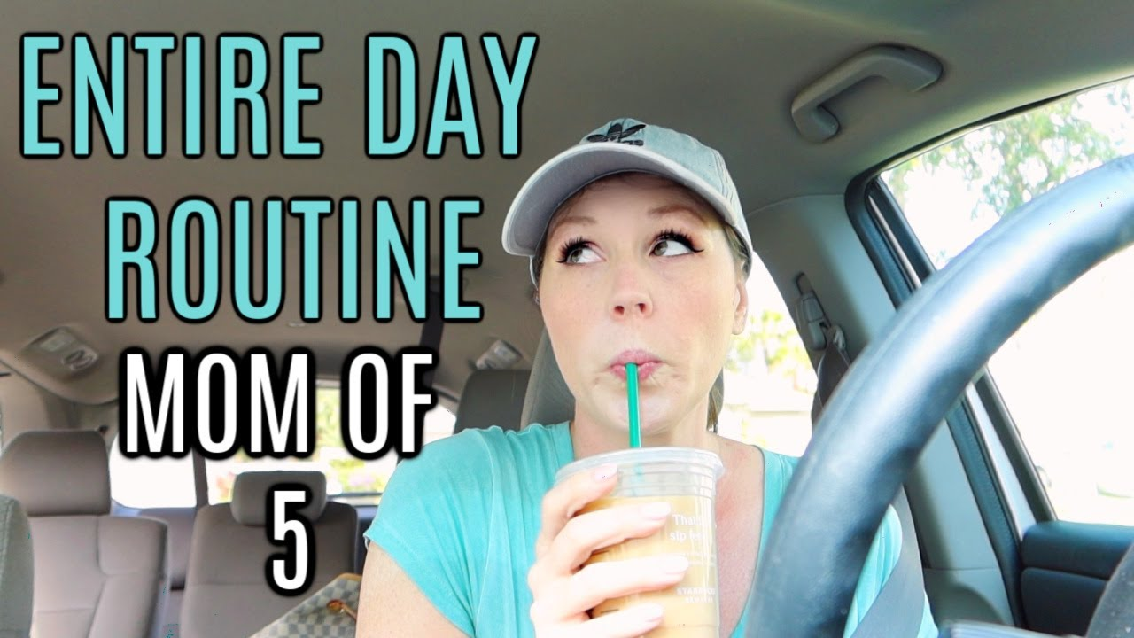 ENTIRE DAY ROUTINE | MOM OF 5 | SUMMER 2020 | MORNING ROUTINE + DAY ROUTINE 2020