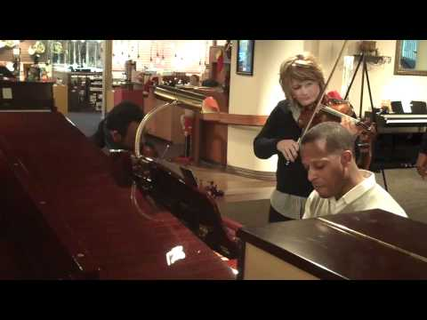 Fiddler Deanie Richardson and Piano at Amro Music in Memphis.