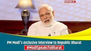 PM Modi's exclusive interview to Republic Bharat | #ModiSpeaksToBharat