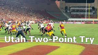 USC stops Utah two-point conversion try