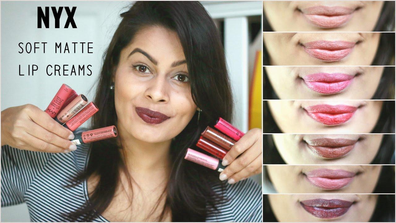 Nyx Soft Matte Lip Creams For Indian Tan Olive Skin Tone