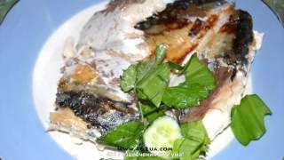 рыба в духовке, запеченная, оригинальный рецепт, 482 развлечения для ума!