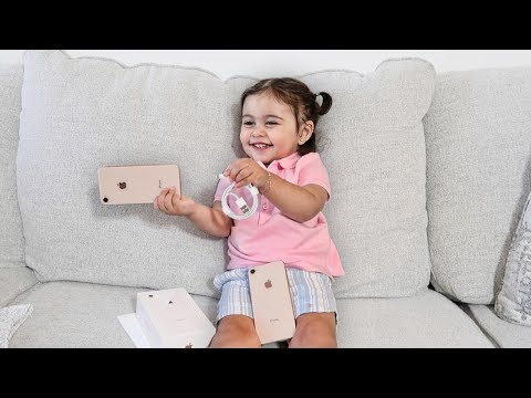 BABY UNBOXING THE NEW IPHONE 8!!!