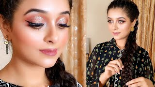 Simple Glam Makeup Tutorial - Easy & Quick Makeup with Stylish Dresses