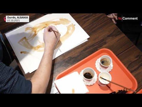 شاهد: فنان ألباني يقدم -علاجاً نفسياً- عبر رسمه صوراً شخصية بالقهوة  - 06:53-2021 / 10 / 27