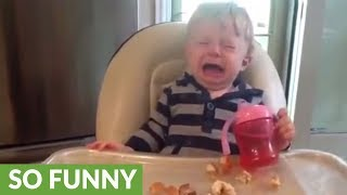'Happy Birthday' song sends kid bursting into tears