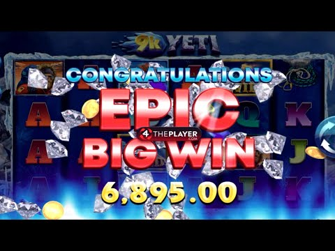👑 9K Yeti 78 Free Spins Bonus Round Big Win Max Bet 💰 A Game By Yggdrasil.