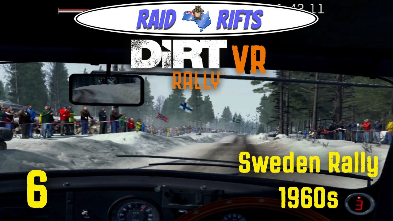 dirt rally vr 6 sweden rally 1960s dirt rally oculus rift gameplay let 39 s play youtube. Black Bedroom Furniture Sets. Home Design Ideas