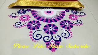 Easy Rangoli Design by Shilpa