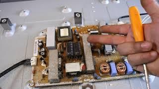 إصلاح تلفاز سامسونج 40 بوصة السي دي الصوت موجود بدون صورة SAMSUNG LA40C530F1R