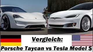 Vergleich: Porsche Taycan vs. Tesla Model S