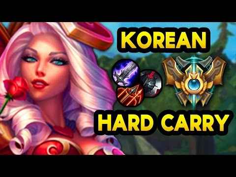 HARD CARRY in KOREAN CHALLENGER with New Ashe Build  - Closer Look (League of Legends)