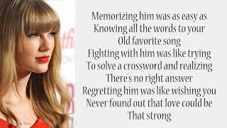 Taylor Swift - RED | Lyrics Songs