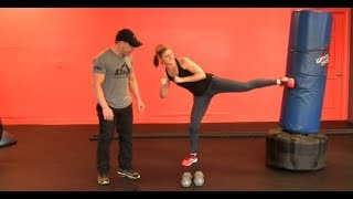 5 EXERCISE LEG HOME WORKOUT FOR WOMEN [ KICKING INCLUDED] PUNCHING BAG