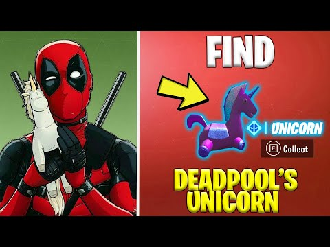 FIND DEADPOOL'S STUFFED UNICORN *Shortest Location Guide*   Fortnite Season 2