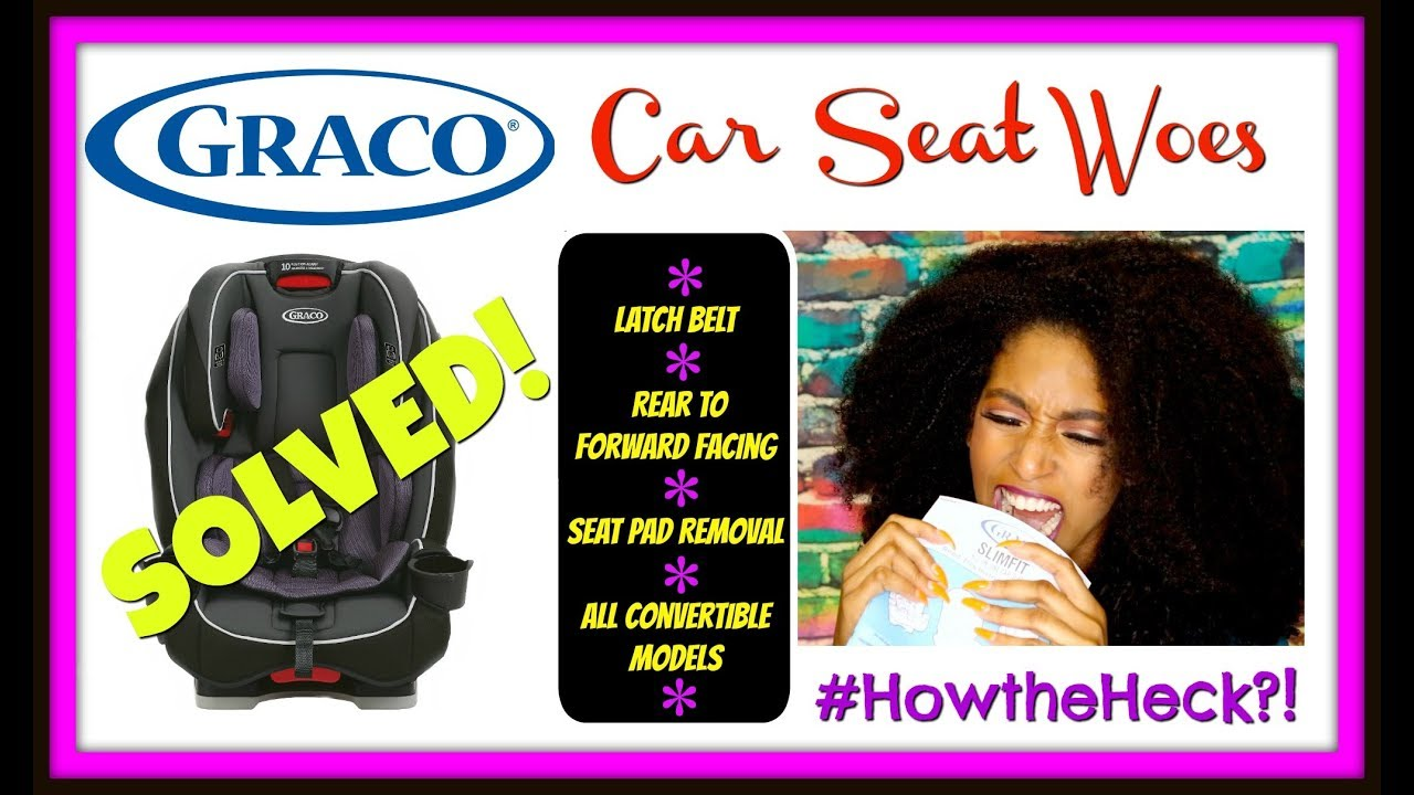 How To Move The Latch Strap On Graco Convertible Car Seat SlimFit 4Ever