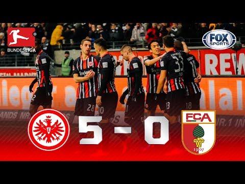 Eintracht Frankfurt - Augsburgo [5-0] | GOLES | Jornada 21 | Bundesliga