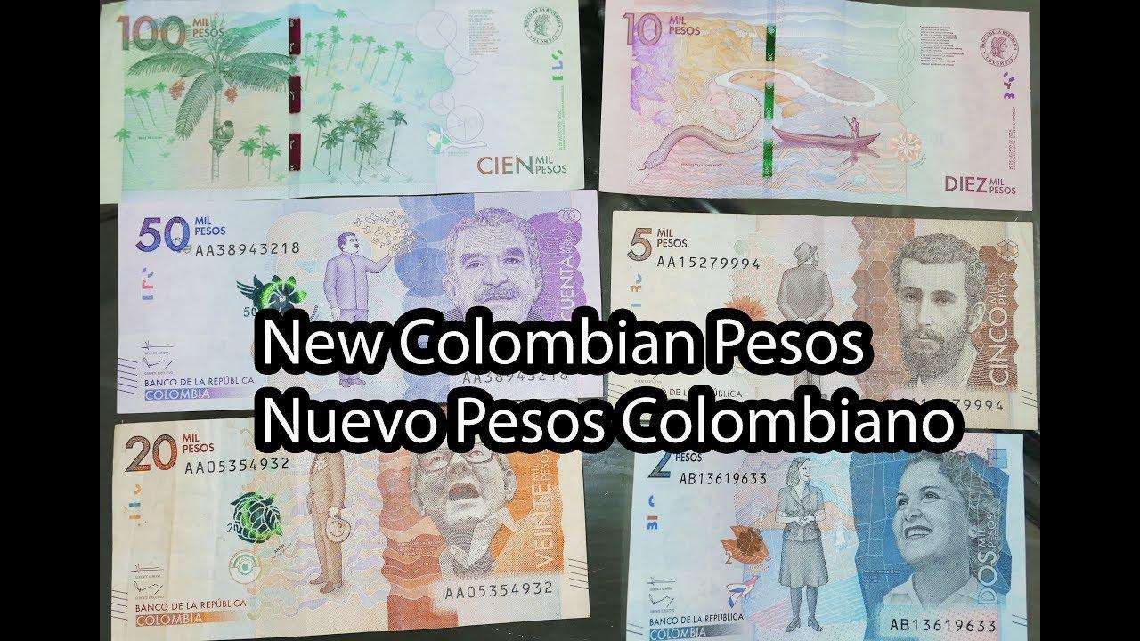 New Colombian Pesos Nuevos