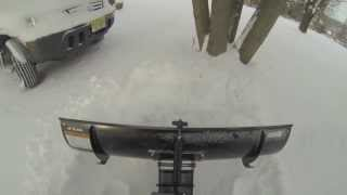 cub cadet ltx1050kw snow plowing 5in