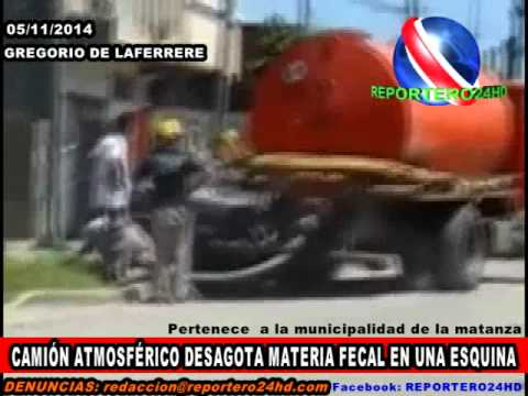 Cami n de la municipalidad de la matanza desagota materia for Municipalidad la matanza