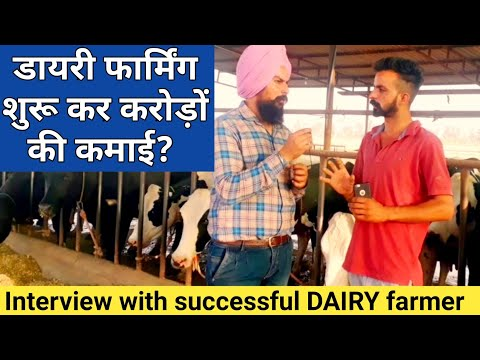 Young Dairy farmer Earn Lakhs per Month from Dairy farm business at haryana india|Interview|part 1