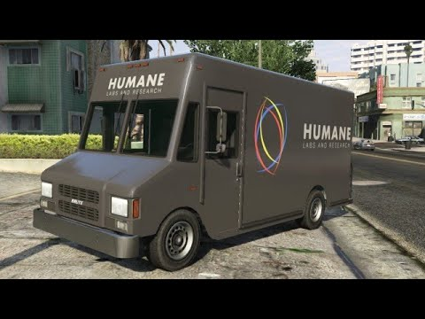 GTA 5 STOY MODE HOW TO GET THE HUMAIN LAB VAN