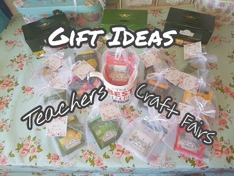 Tea Gift Ideas - Teacher Gifts , Token Gift, Craft Fair Ideas