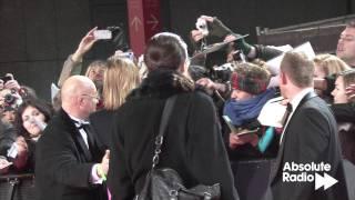 Brad Pitt on the red carpet at the BAFTAs 2012