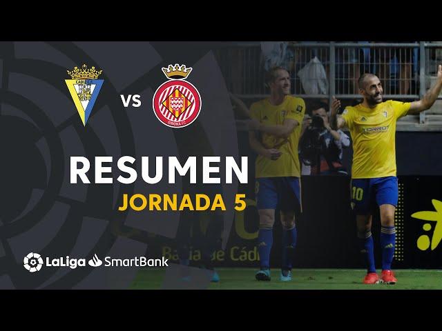 Resumen de Cádiz CF vs Girona FC (2-0)