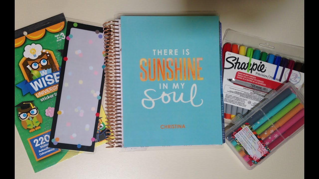 plan with me how to use the erin condren life planner for college