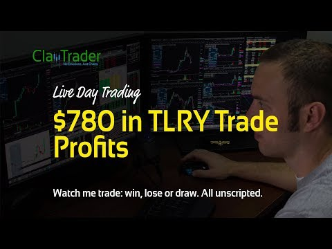 Live Day Trading – $780 in TLRY Trade Profits